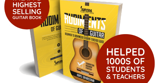 Rudiments of Guitar Book Buy Online Price India - by Kapil Srivastava